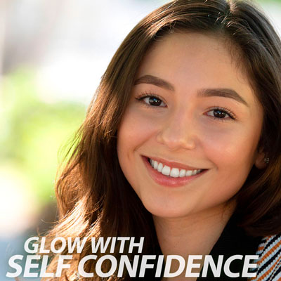 glow with self confidence