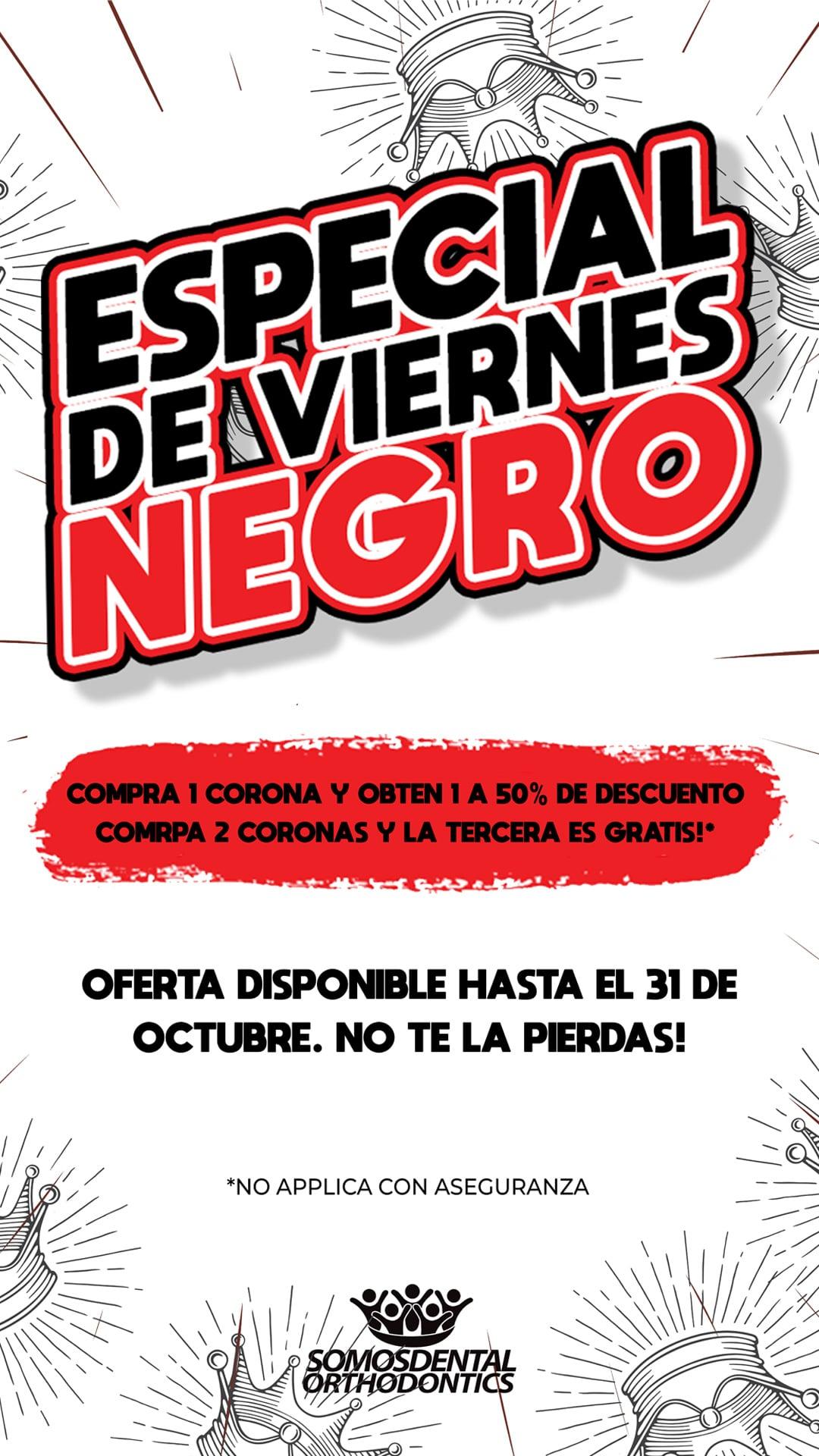 Especial de Coronas Dentales de Black Friday