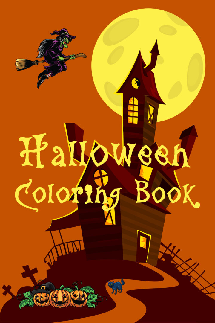 Halloween Coloring Book: Spooky and Fun Coloring Book for Kids and Adults
