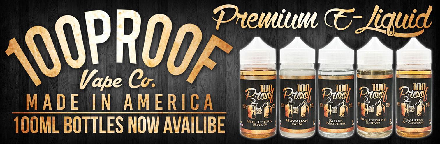 100 Proof E Liquid 100Ml Chubby Bottles