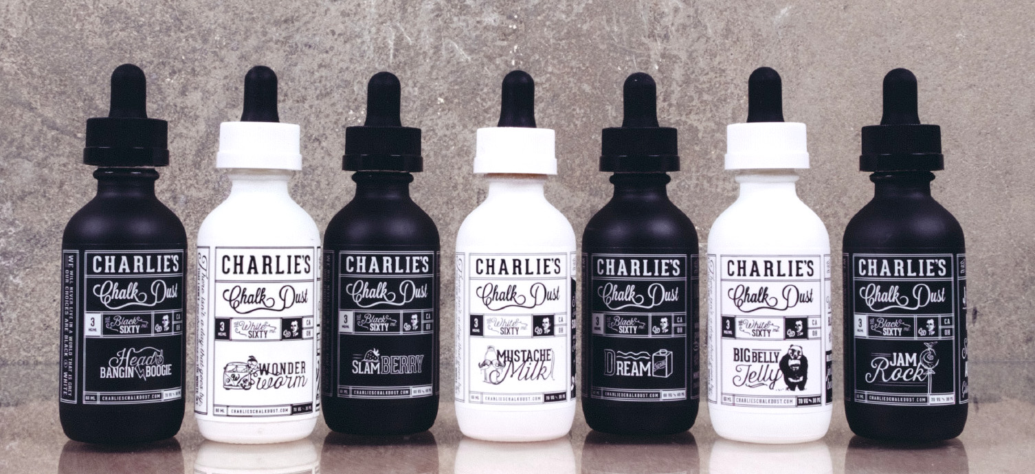 black and white series e juice from charlies chalk dust