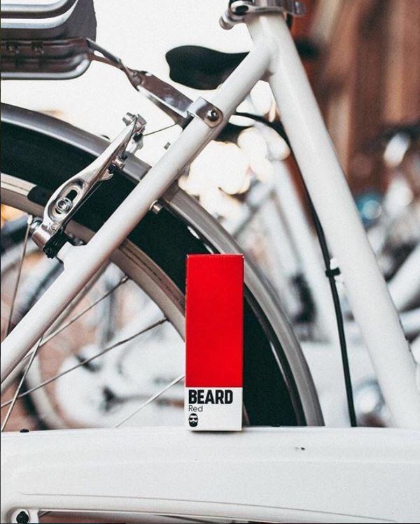 beard vape Red eliquid and bike shot