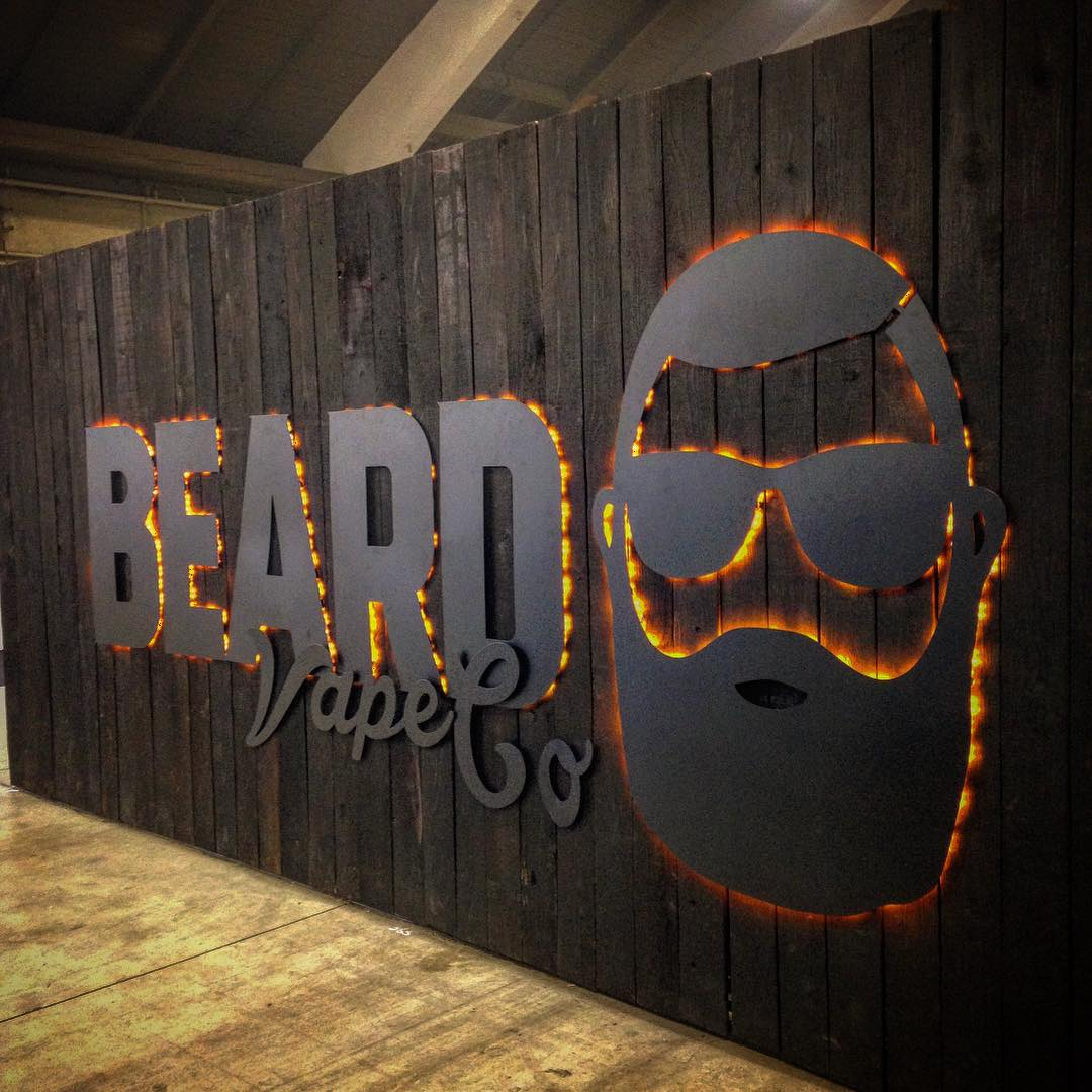 pic of beard vape eliquid office and logo