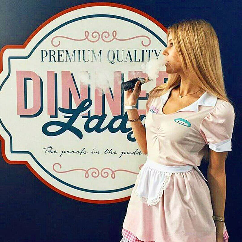 vape dinner lady promo girl ejuice