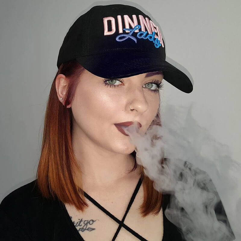 vape dinner lady ejuice hat merch