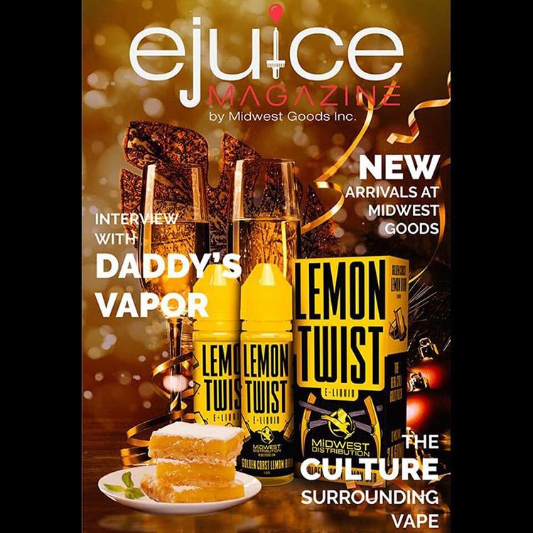 Golden Coast Lemon bar Ejuice Magazine Front Cover
