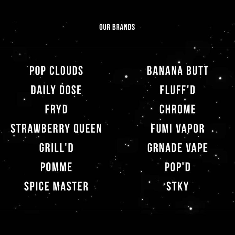 Daddy's Vapor Distro Brands