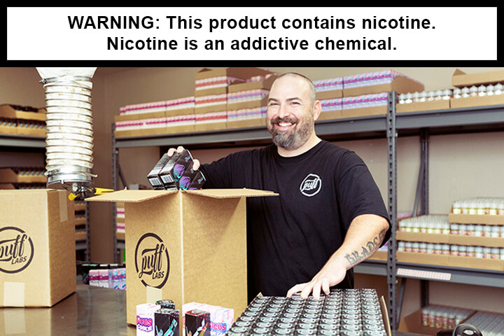 8puff labs eliquid production packing