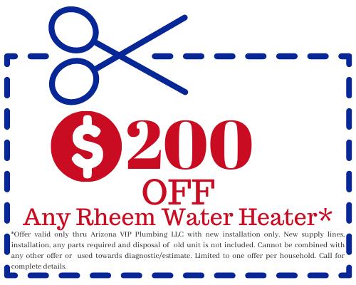 rheem water heater special