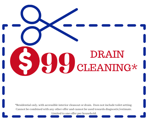 99 drain cleaning special