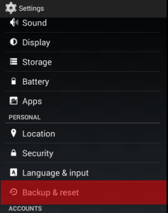 android-backup-reset-settings