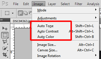 Auto Tone, Auto Contrast, and Auto Color in Photoshop