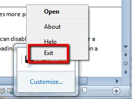 Exit background programs