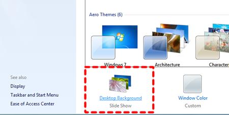 Select Desktop Background
