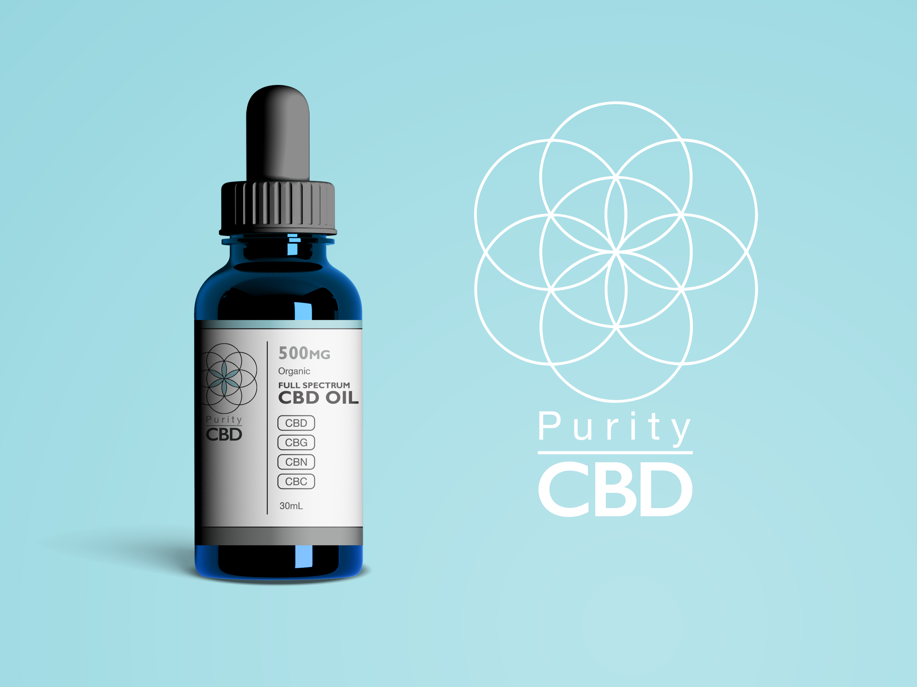 Purity CBD™ Full-Spectrum CBD Oil (500mg) Flavor Options