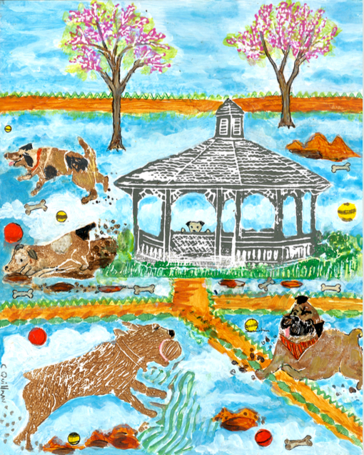 """Dog Heaven"" 8 x 10 Matted Print $35"
