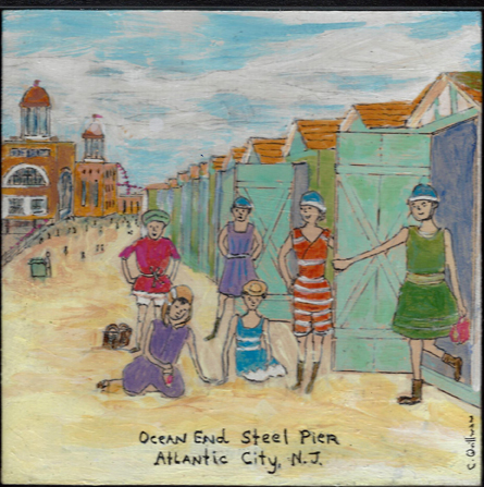 """Steel Pier""  6 x 6 Matted Print $35"