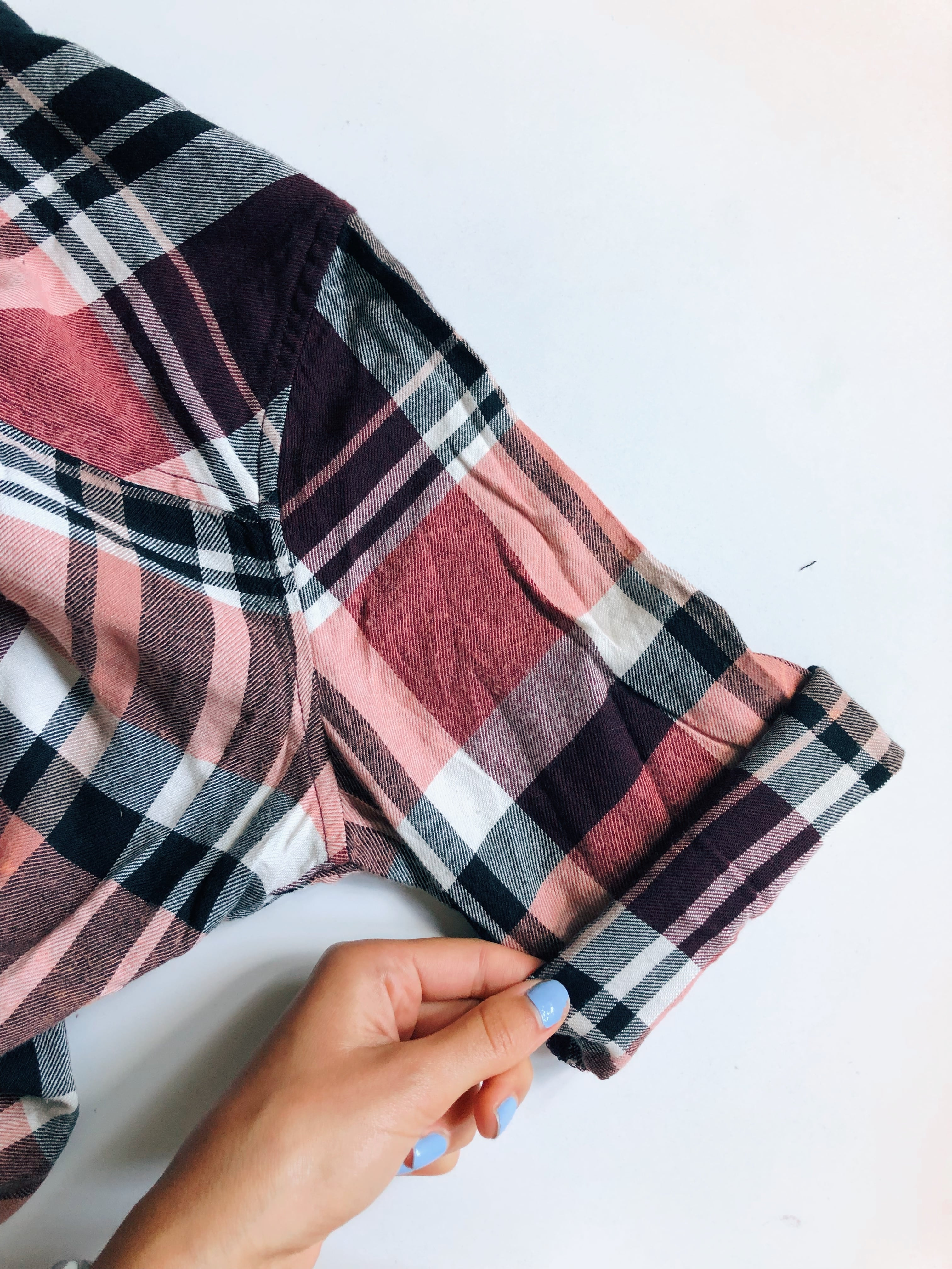 cuffing diy flannel