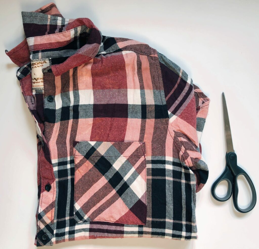 pink and black flannel diy