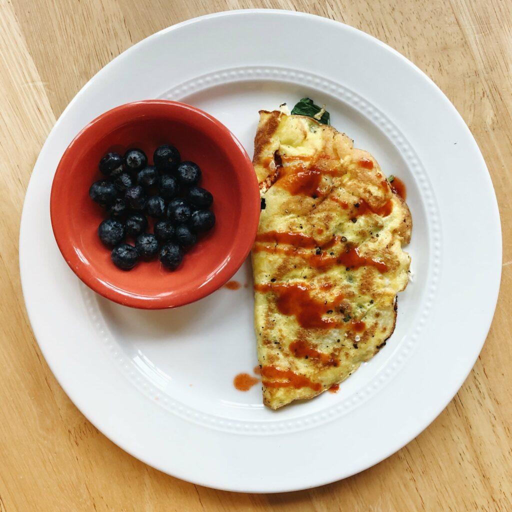Breakfast Omlette w/ Blueberries