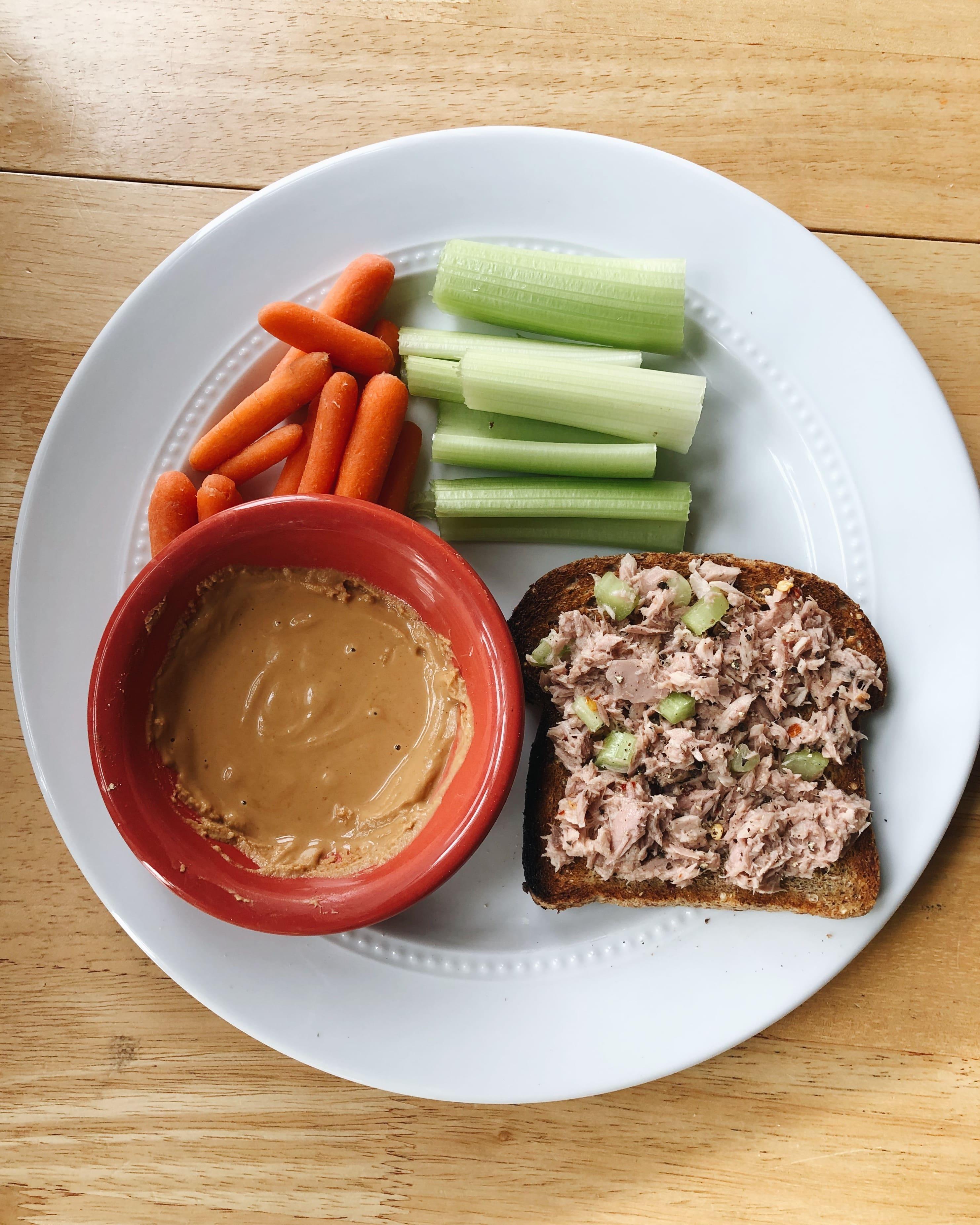 lunch tuna salad toast