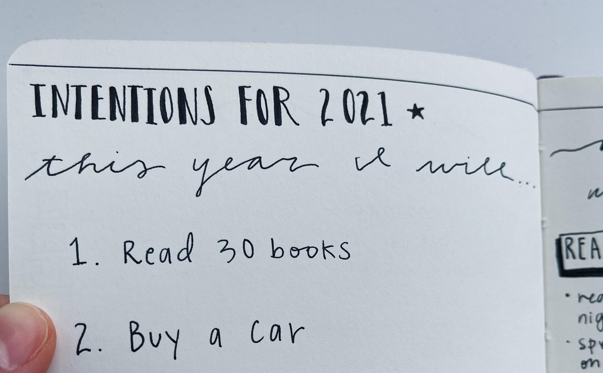 specific goals in bullet journal