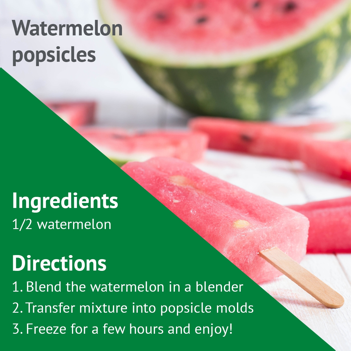Watermelon popsicle recipe for Phelps Hospital