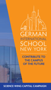 The cover of a promotional brochure for the German International School of New York