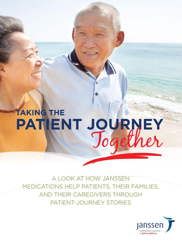 The cover of the Janssen Patient Journeys booklet for Janssen Pharmaceuticals