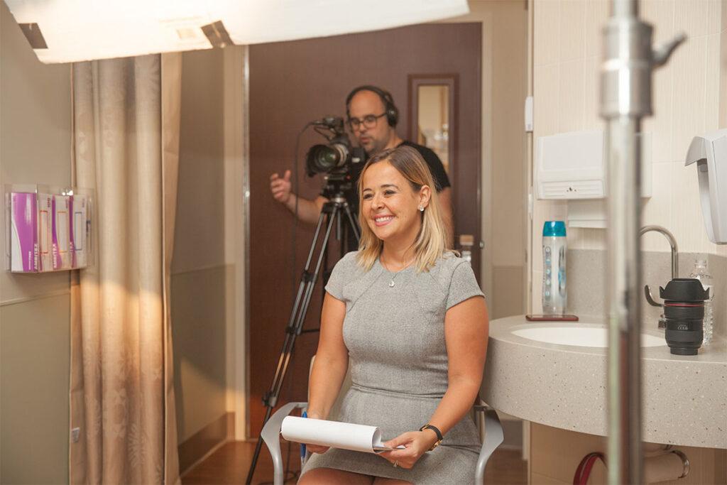 Image of Copy & Art team member at video shoot
