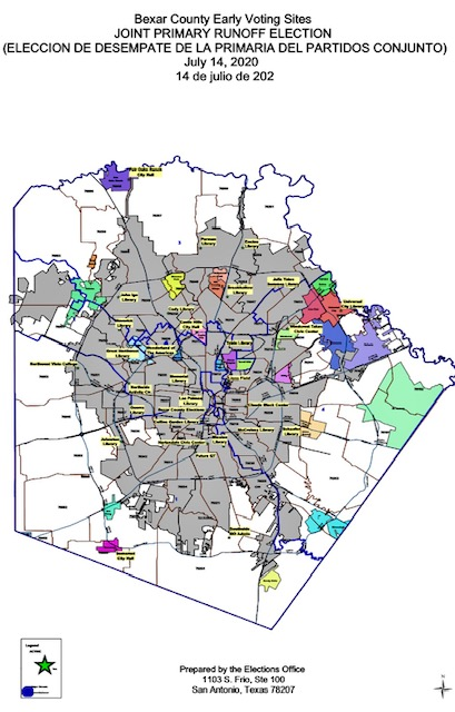 early voting location map in san antonio