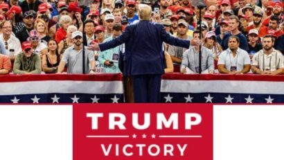 trump at rally for victory