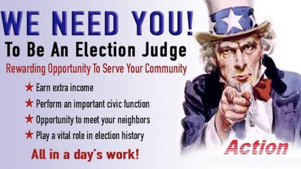 Apply to become and election judge
