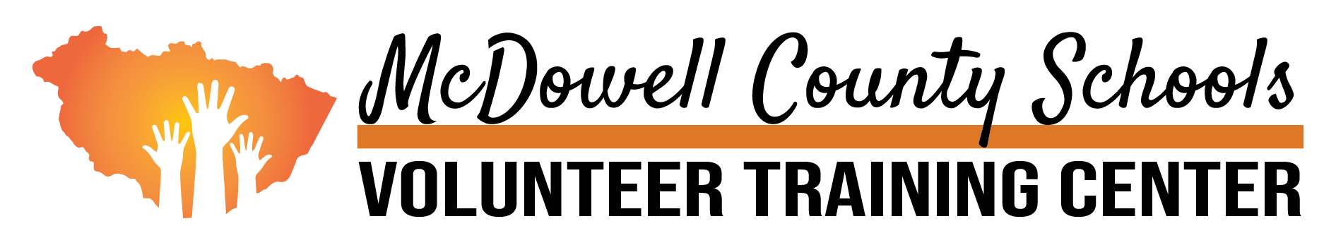 McDowell County Schools Volunteer Training Center Logo