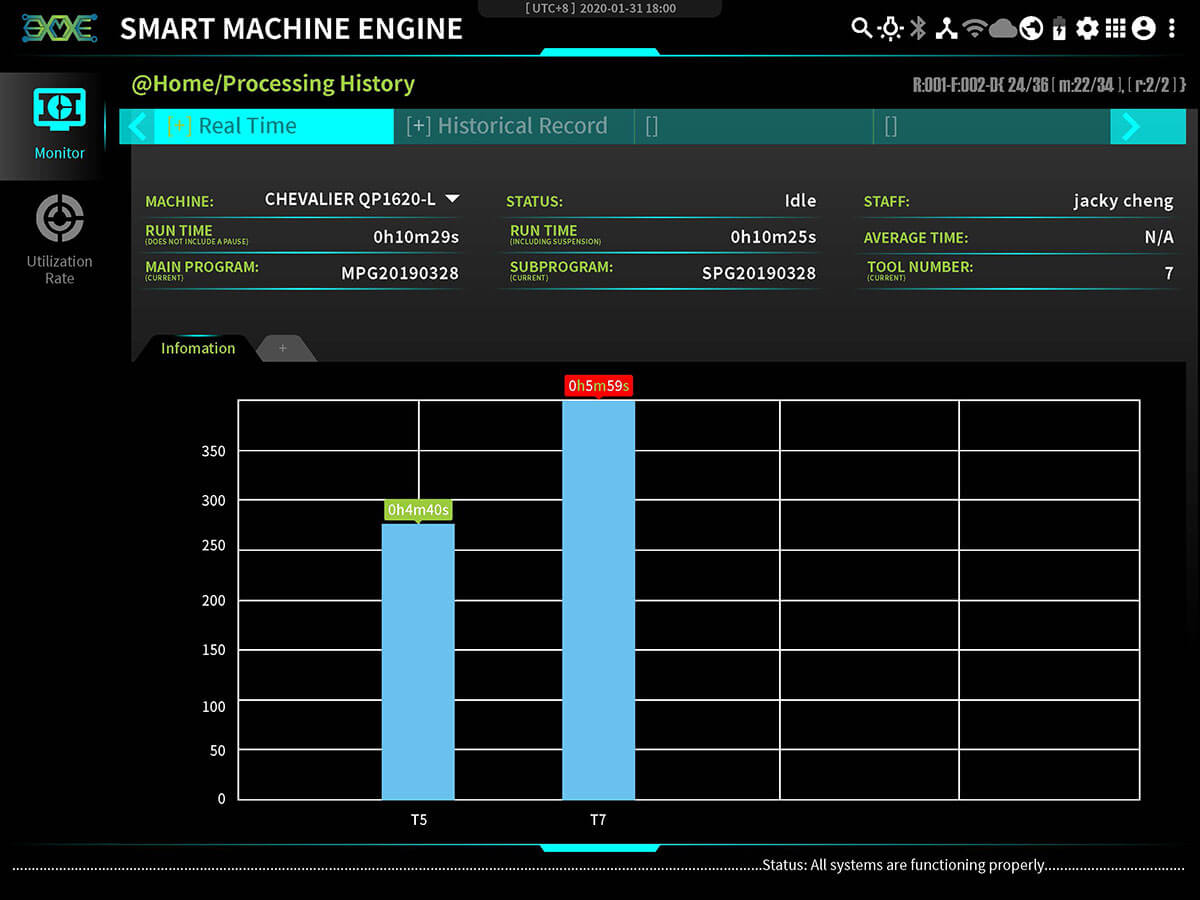 Machining Traceability APP- The Present Time