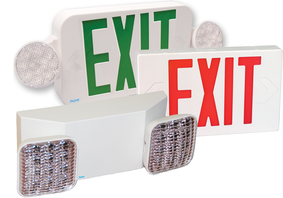 Atlas Fire Equipment Beghelli Exit and Emergency Signs