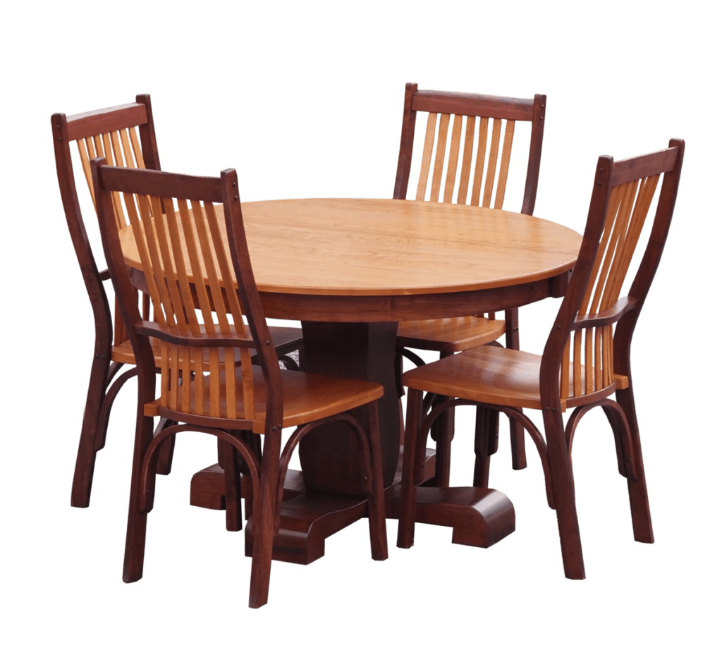 Solid Oak Pedestal Table