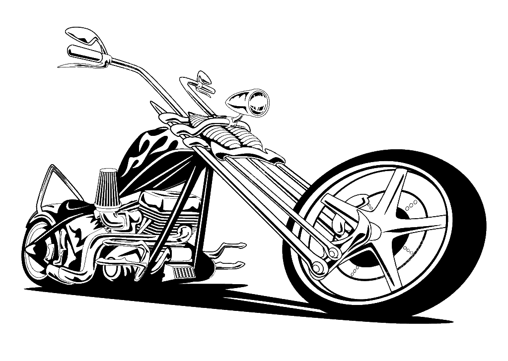 SVG Transportation - Harley Davidson Chopper