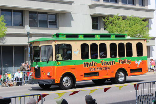 Mule Town Trolley is the Official Transportation for the Mule Day Queen and Court