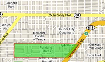 Parkland Estates Map