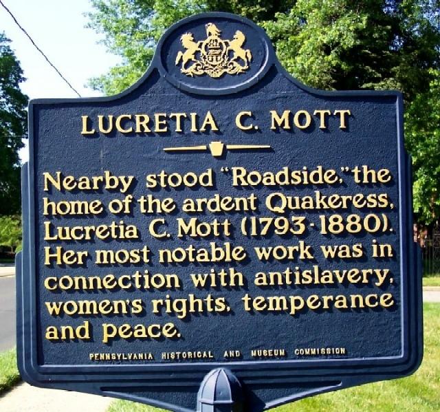 Lucretia C. Mott Marker