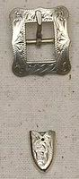 """497 1/2"""" Scallop Rectangular Buckle with Tip"""