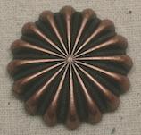 Antique Copper Pinwheel Concho