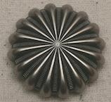 Antique Nickel Pinwheel Concho