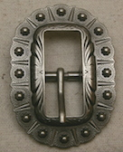 Antique Nickel Oval Berry Buckle