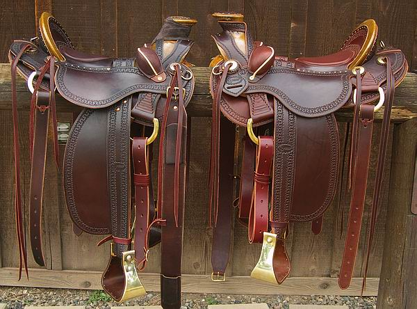 Walnut Brown DOA Western Saddle