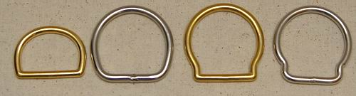 Brass and Stainless Hobble Rings