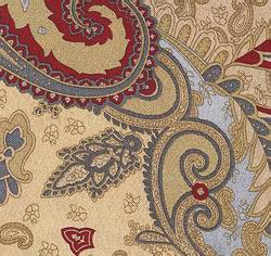 Cowboy Images Gold & Burgundy Paisley