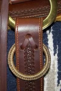 Hobble Ring Shown on Saddle