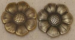 JM Wildflower Conchos Brass or Bronze